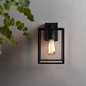 Настенный фонарь Astro Box 1354003 (8048), IP23, 1xE27x60W, черный, прозрачный, металл, стекло - миниатюра 2