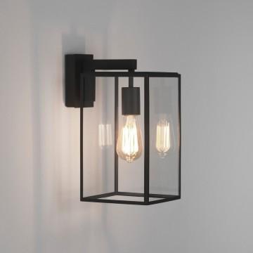 Настенный фонарь Astro Box 1354004 (8049), IP23, 1xE27x60W, черный, прозрачный, металл, стекло