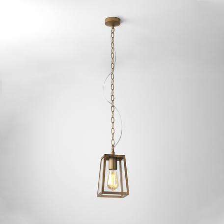 Подвесной светильник Astro Calvi 1306006 (7985), IP23, 1xE27x60W, бронза, прозрачный, металл, стекло