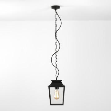 Подвесной светильник Astro Richmond 1340008 (8012), IP23, 1xE27x60W, черный, прозрачный, металл, стекло