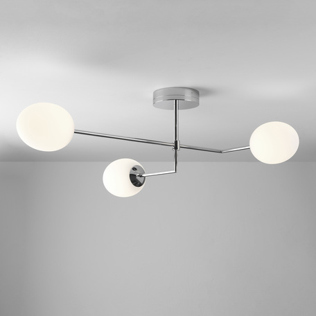 Потолочная светодиодная люстра Astro Kiwi 1390005 (8051), IP44, LED 21,2W 2700K 1575lm CRI80, хром, белый, металл, стекло