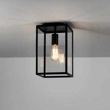 Потолочный светильник Astro Homefield 1095021 (7956), IP23, 1xE27x60W, черный, прозрачный, стекло