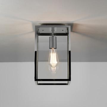 Потолочный светильник Astro Homefield 1095022 (7957), IP23, 1xE27x60W, никель, прозрачный, стекло