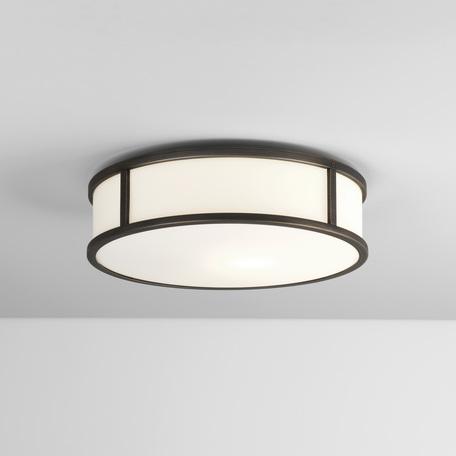 Потолочный светодиодный светильник Astro Mashiko 1121045 (7988), IP44, LED 16,35W 2700K 891.71lm CRI>80, белый, бронза, металл, стекло