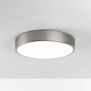 Потолочный светодиодный светильник Astro Mallon LED 1125005 (8001), IP44, LED 16,2W 2700K 732lm CRI>80, никель, металл со стеклом, стекло