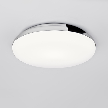 Потолочный светодиодный светильник Astro Altea 1133007 (8047), IP44, LED 15,6W 2700K 673lm CRI>80, хром, белый, металл, стекло