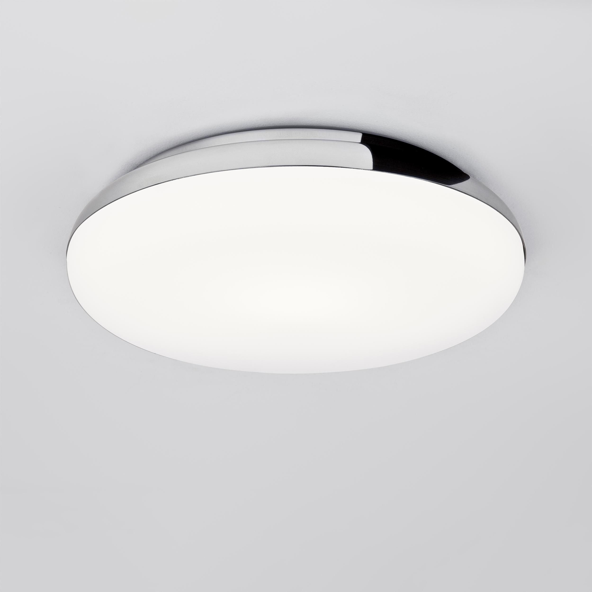 Потолочный светодиодный светильник Astro Altea 1133007 (8047), IP44, LED 15,6W 2700K 673lm CRI>80, хром, белый, металл, стекло - фото 1