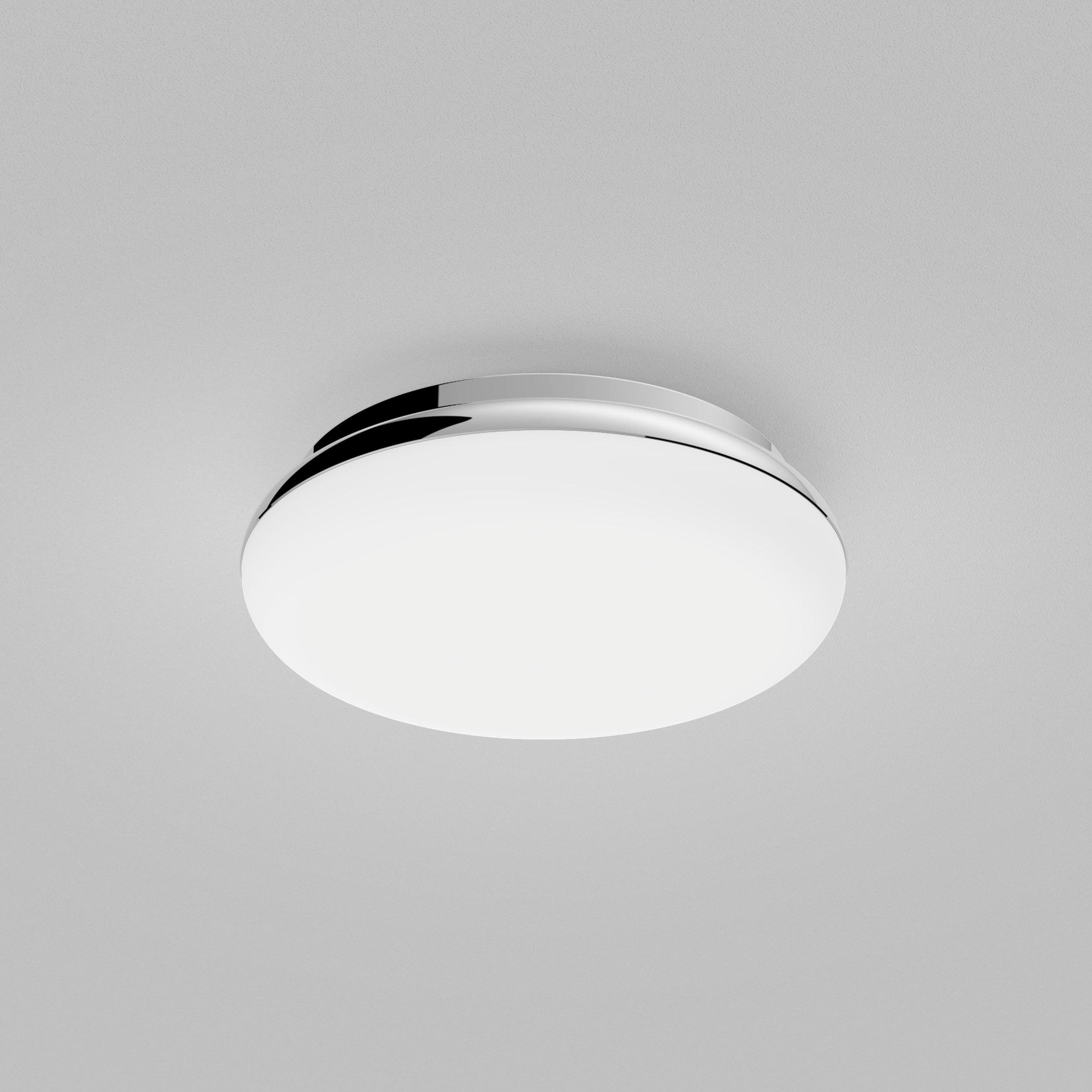 Потолочный светодиодный светильник Astro Altea 1133007 (8047), IP44, LED 15,6W 2700K 673lm CRI>80, хром, белый, металл, стекло - фото 3