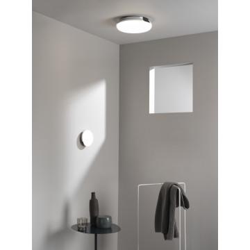 Потолочный светодиодный светильник Astro Altea 1133007 (8047), IP44, LED 15,6W 2700K 673lm CRI>80, хром, белый, металл, стекло - миниатюра 4