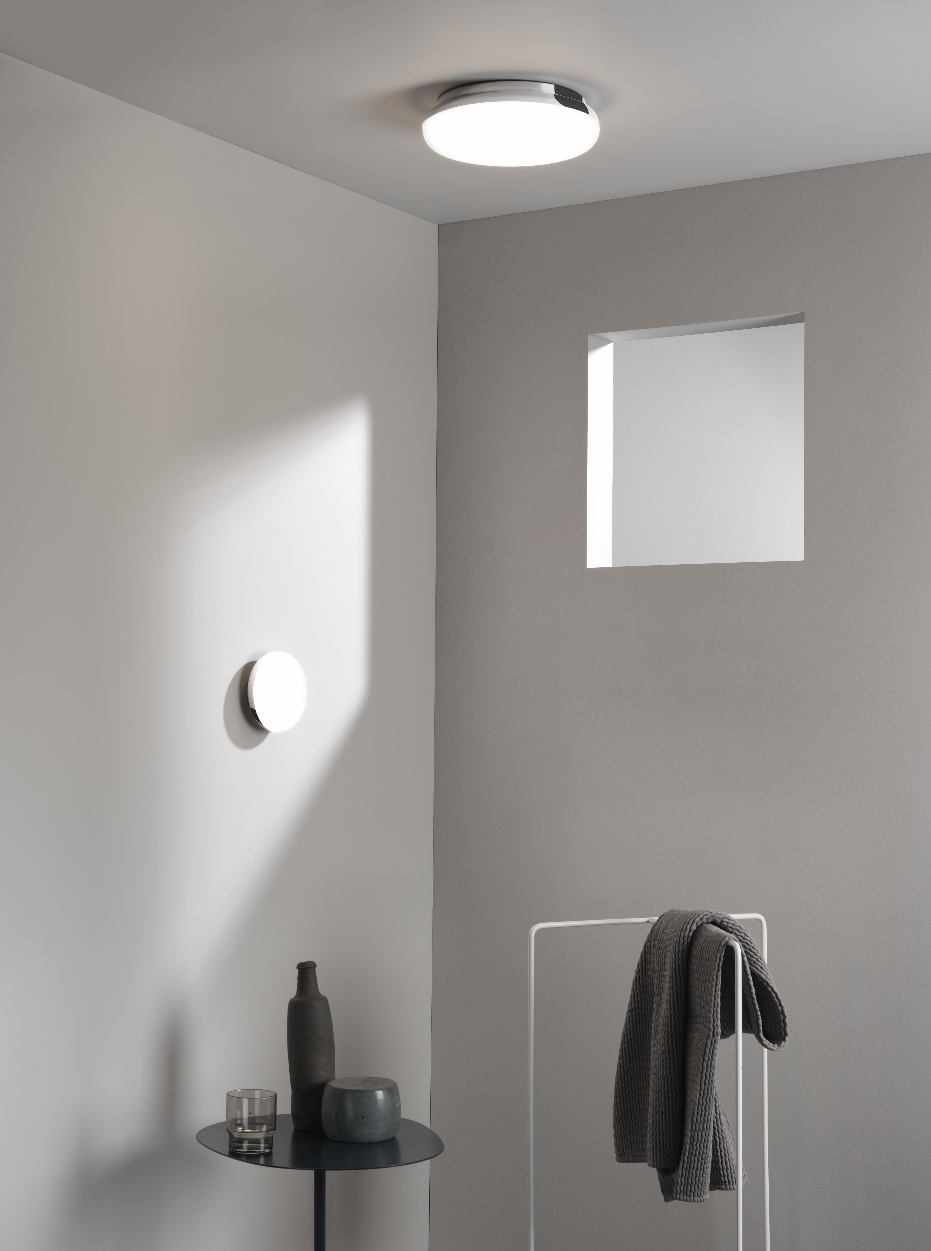 Потолочный светодиодный светильник Astro Altea 1133007 (8047), IP44, LED 15,6W 2700K 673lm CRI>80, хром, белый, металл, стекло - фото 4