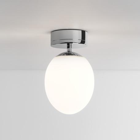 Потолочный светодиодный светильник Astro Kiwi 1390002 (8009), IP44, LED 7,3W 2700K 555.23lm CRI80, хром, белый, металл, стекло