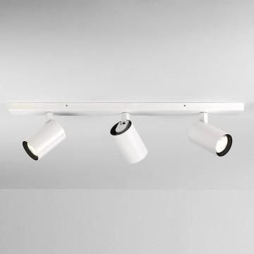 Потолочный светильник с регулировкой направления света Astro Aqua 1393003 (6154), IP44, 3xGU10x6W, белый, прозрачный, металл, стекло