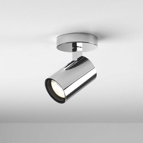 Потолочный светильник с регулировкой направления света Astro Aqua 1393004 (6155), IP44, 1xGU10x6W, хром, металл, стекло