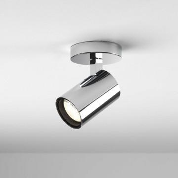 Потолочный светильник с регулировкой направления света Astro Aqua 1393004 (6155), IP44, 1xGU10x6W, хром, прозрачный, металл, стекло