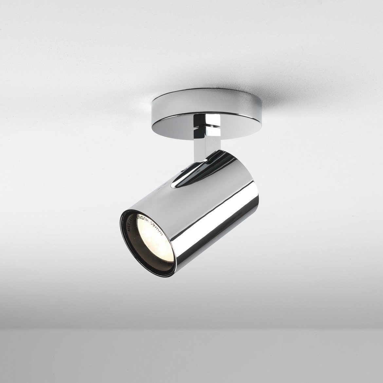 Потолочный светильник с регулировкой направления света Astro Aqua 1393004 (6155), IP44, 1xGU10x6W, хром, прозрачный, металл, стекло - фото 1
