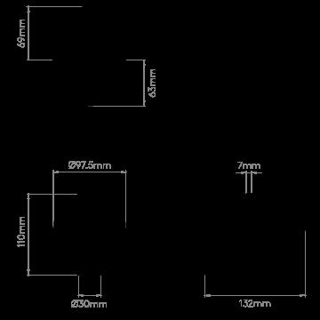 Схема с размерами Astro 1058065