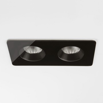 Встраиваемый светодиодный светильник Astro Vetro 1254018 (5756), IP65, LED 12W 3000K 1231.6lm CRI80, прозрачный, черный, металл, стекло