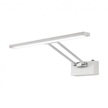 Настенный светодиодный светильник для подсветки картин Citilux Визор CL708350, LED 8W 3600K 975lm, белый, хром, металл