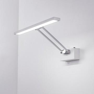 Настенный светодиодный светильник для подсветки картин Citilux Визор CL708350, LED 8W 3600K 975lm, белый, хром, металл - миниатюра 7