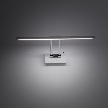 Настенный светодиодный светильник для подсветки картин Citilux Визор CL708350, LED 8W 3600K 975lm, белый, хром, металл - миниатюра 8
