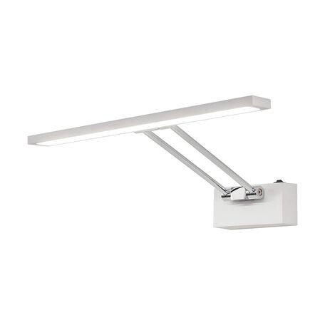 Настенный светодиодный светильник для подсветки картин Citilux Визор CL708350, LED 8W 3600K 975lm, белый, хром, металл - миниатюра 1