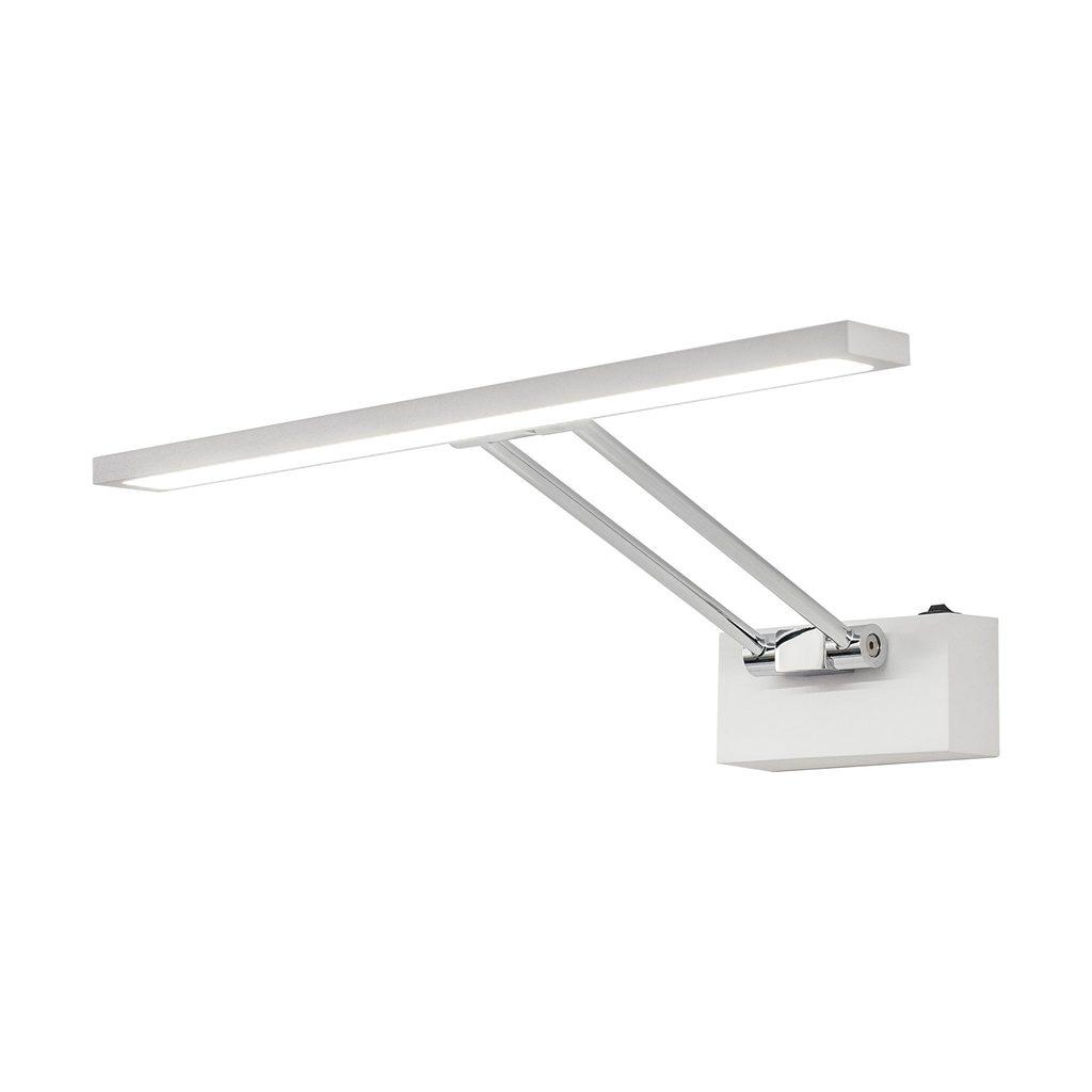 Настенный светодиодный светильник для подсветки картин Citilux Визор CL708350, LED 8W 3600K 975lm, белый, хром, металл - фото 1