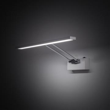Настенный светодиодный светильник для подсветки картин Citilux Визор CL708350, LED 8W 3600K 975lm, белый, хром, металл - миниатюра 3