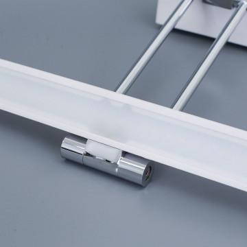 Настенный светодиодный светильник для подсветки картин Citilux Визор CL708350, LED 8W 3600K 975lm, белый, хром, металл - миниатюра 5