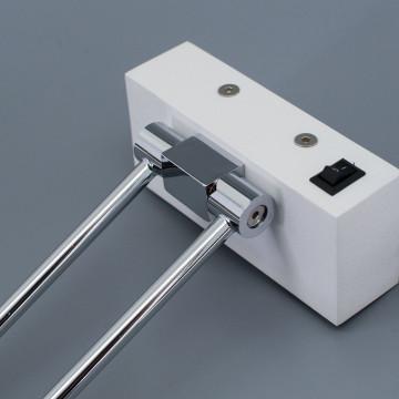 Настенный светодиодный светильник для подсветки картин Citilux Визор CL708350, LED 8W 3600K 975lm, белый, хром, металл - миниатюра 6