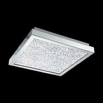 Потолочный светодиодный светильник Eglo Cardito 32025, LED 16W 4000K 1700lm, хром, металл, металл со стеклом/хрусталем, стекло, хрусталь