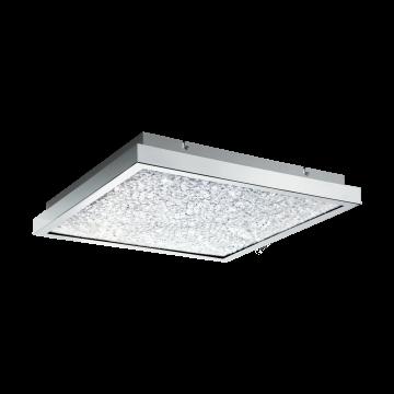 Потолочный светодиодный светильник Eglo Cardito 32026, LED 26,8W 4000K 3400lm, хром, металл, металл со стеклом/хрусталем, стекло, хрусталь