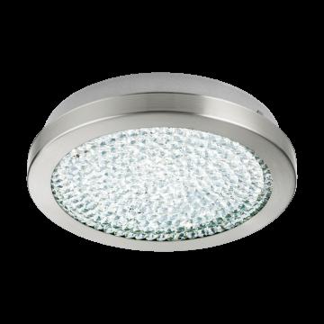 Потолочный светодиодный светильник Eglo Arezzo 2 32046, LED 11,2W 4000K 1500lm, никель, металл, металл со стеклом/хрусталем, стекло, хрусталь