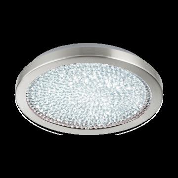 Потолочный светодиодный светильник Eglo Arezzo 2 32047, LED 17,92W 4000K 2300lm, никель, металл, металл со стеклом/хрусталем, стекло, хрусталь - миниатюра 1