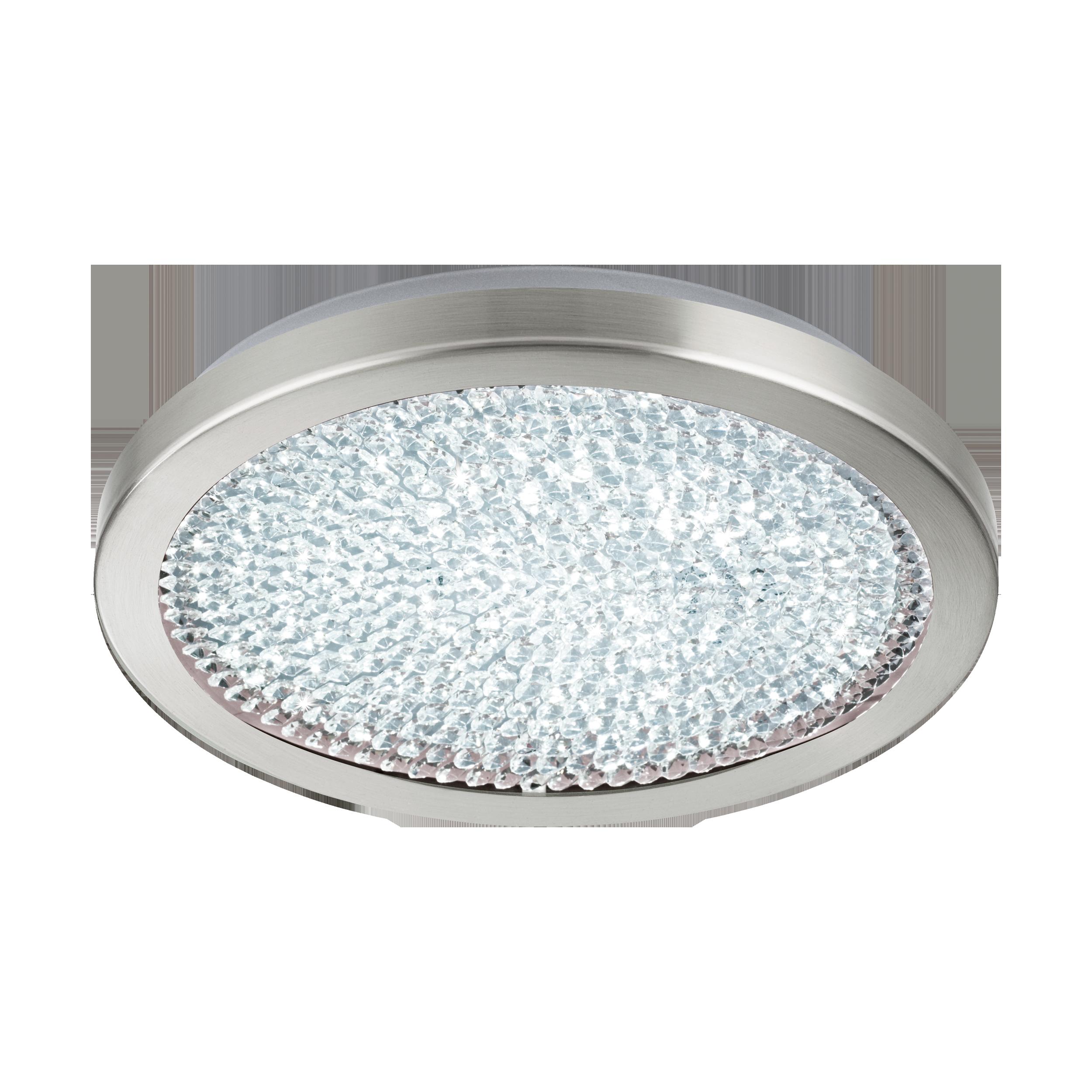 Потолочный светодиодный светильник Eglo Arezzo 2 32047, LED 17,92W 4000K 2300lm, никель, металл, металл со стеклом/хрусталем, стекло, хрусталь - фото 1