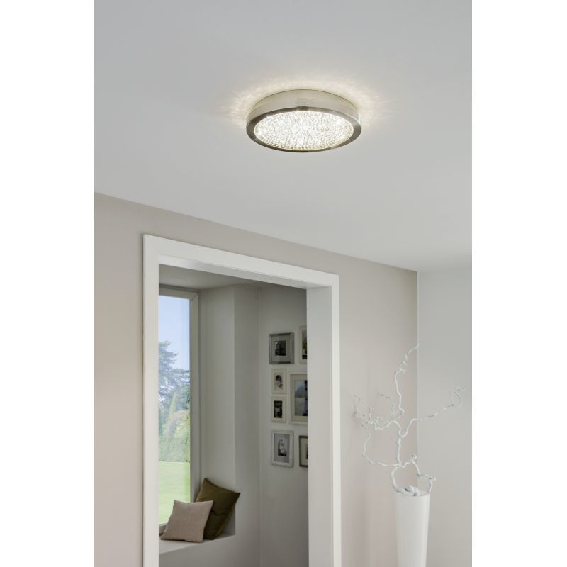 Потолочный светодиодный светильник Eglo Arezzo 2 32047, LED 17,92W 4000K 2300lm, никель, металл, металл со стеклом/хрусталем, стекло, хрусталь - фото 2