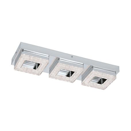 Потолочный светодиодный светильник Eglo Fradelo 95656, LED 12W 3000K 1200lm CRI>80, хром, металл, пластик