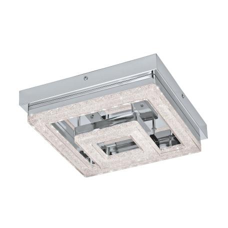 Потолочный светодиодный светильник Eglo Fradelo 95659, LED 12W 3000K 1250lm CRI>80, хром, металл, пластик