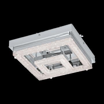 Потолочный светодиодный светильник Eglo Fradelo 95659, 3000K (теплый), хром, прозрачный, металл, пластик