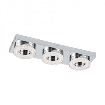 Потолочный светодиодный светильник Eglo Fradelo 95663, LED 12W 3000K 1200lm CRI>80, хром, металл, пластик