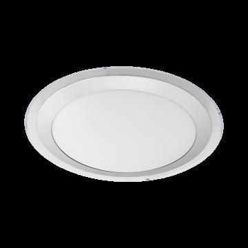 Потолочный светодиодный светильник Eglo Competa 1 95677, LED 22W 3000K 2400lm, белый, серебро, металл, пластик