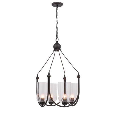 Подвесная люстра ST Luce Codita SL333.303.04, 4xE27x60W, коричневый, прозрачный, металл, стекло