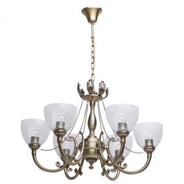 Подвесная люстра MW-Light Аманда 481011506, бронза, прозрачный, металл, стекло