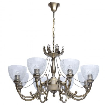 Подвесная люстра MW-Light Аманда 481011608, бронза, прозрачный, металл, стекло