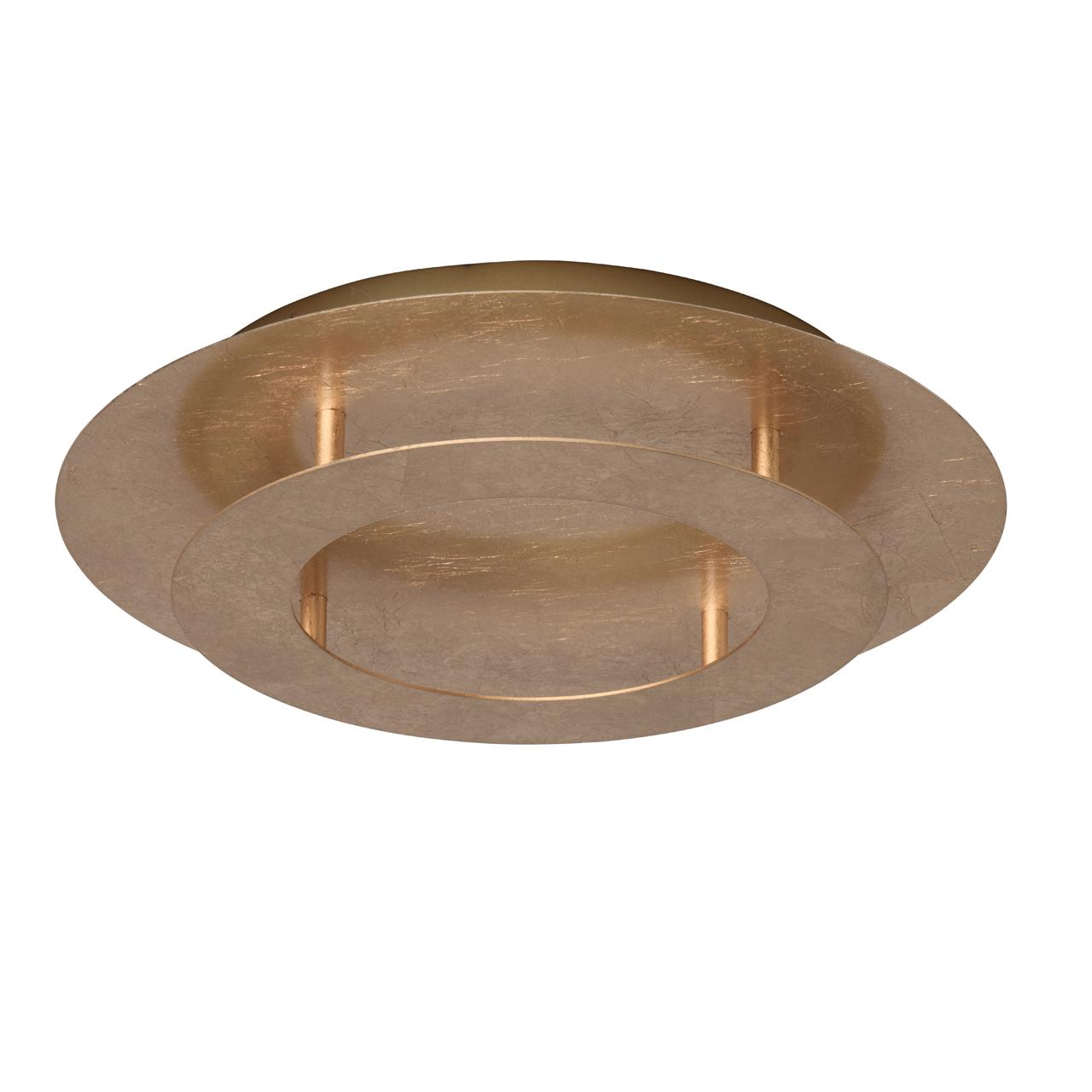 Потолочный светодиодный светильник De Markt Галатея 452011701, LED 18W, 3000K (теплый), матовое золото, металл - фото 1