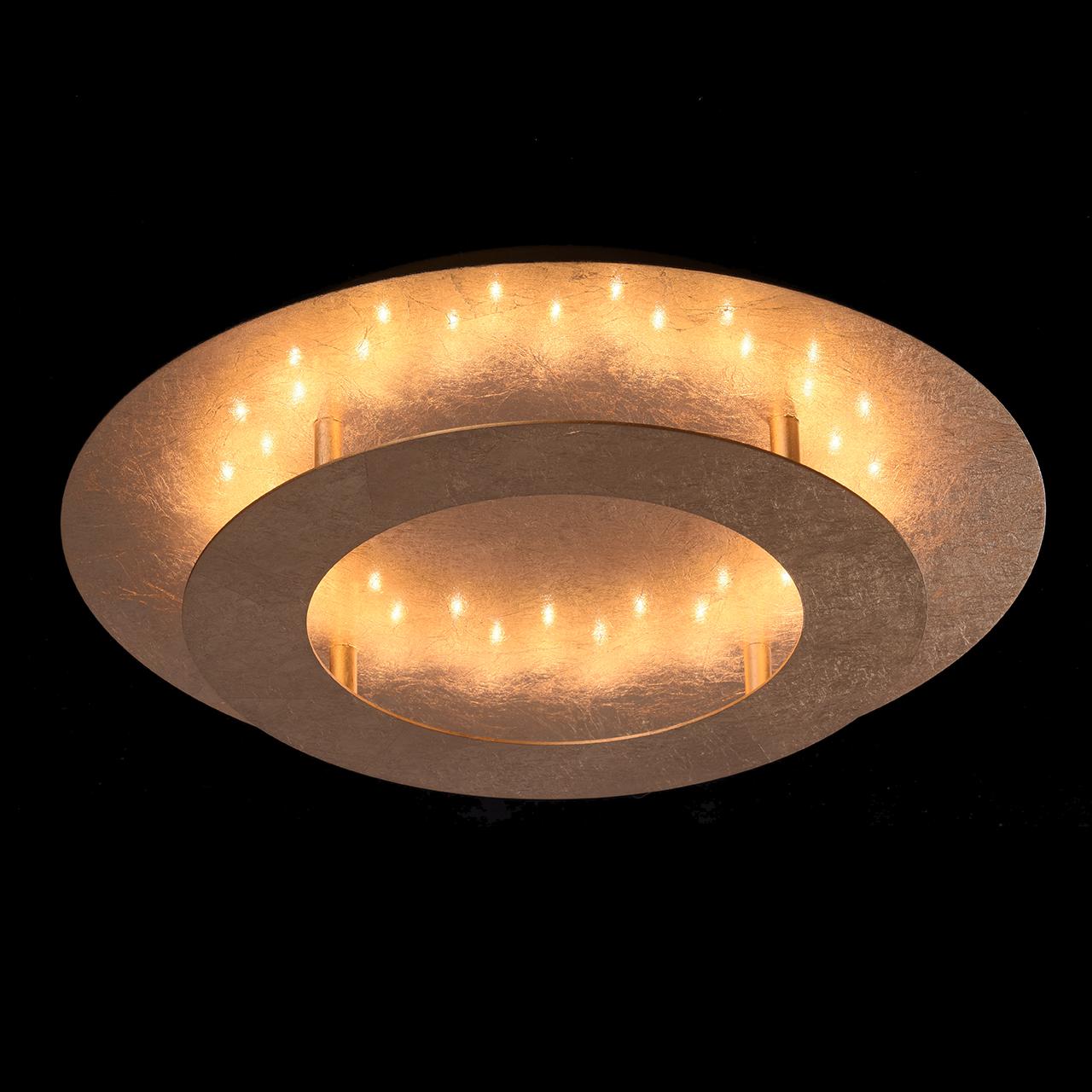 Потолочный светодиодный светильник De Markt Галатея 452011701, LED 18W, 3000K (теплый), матовое золото, металл - фото 2