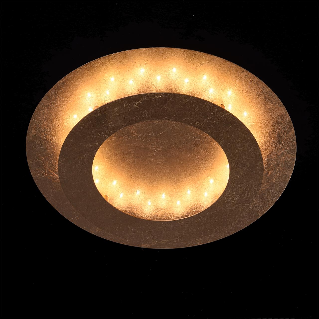 Потолочный светодиодный светильник De Markt Галатея 452011701, LED 18W, 3000K (теплый), матовое золото, металл - фото 3