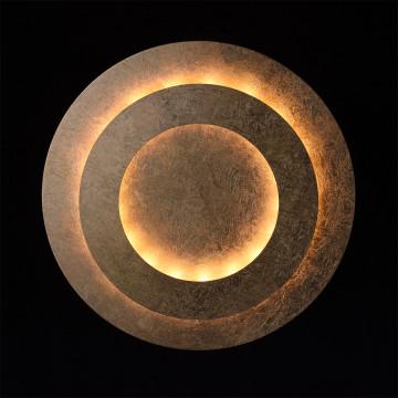 Потолочный светодиодный светильник De Markt Галатея 452011701, LED 18W, 3000K (теплый), матовое золото, металл - миниатюра 4