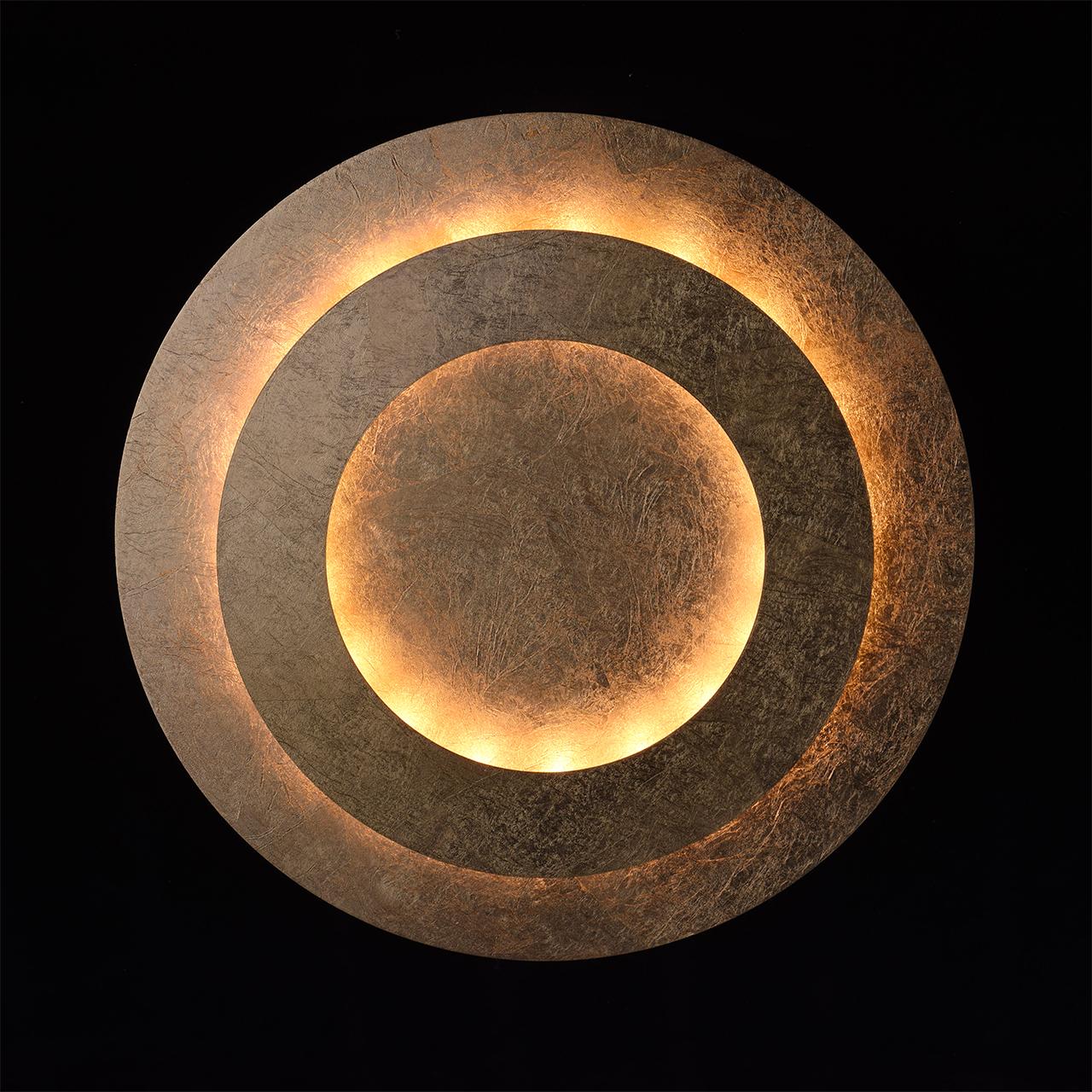 Потолочный светодиодный светильник De Markt Галатея 452011701, LED 18W, 3000K (теплый), матовое золото, металл - фото 4