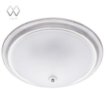 Потолочный светильник MW-Light Ариадна 450013505, 5xE27x60W, белый с золотой патиной, металл, стекло