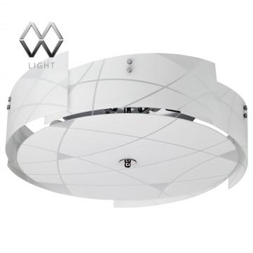 Потолочный светильник MW-Light Илоника 451010905, 5xE14x60W, хром, белый, металл, стекло